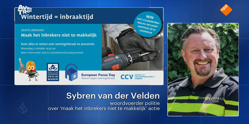 Webinar inbraakpreventie in tv-programma Opsporing Verzocht